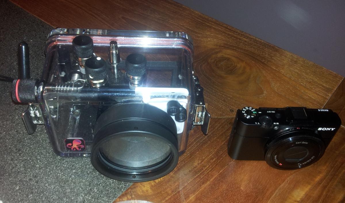 Sony Kompaktkamera DSC-RX 100M2 und passendes Unterwasserghäuse