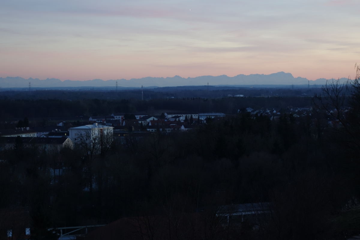 Blick vom Schloßberg nach Südwesten