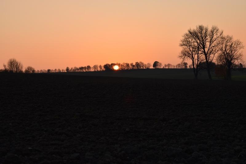 Sonnenuntergang bei Unterweilbach
