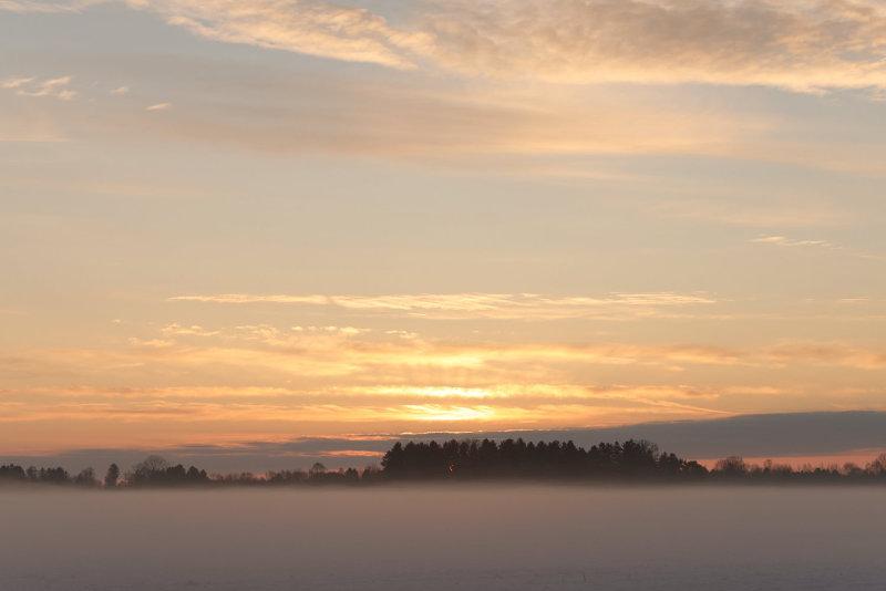 Sonnenaufgang im Dachauer Moos