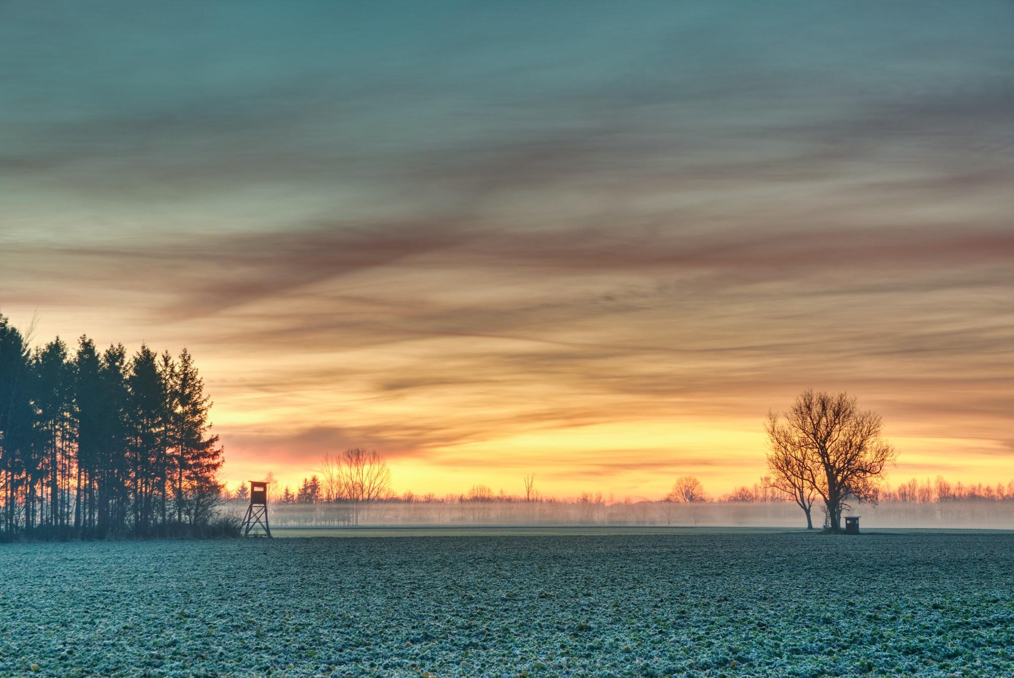 Sonnenaufgang im Hebertshauser Moos